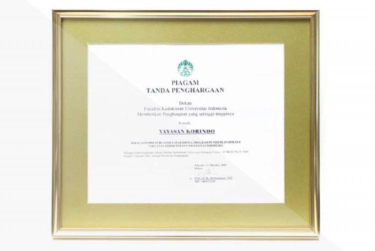 korindo-group-awards-2003-Scholarship-Award-from-the-University-of-Indonesia-02