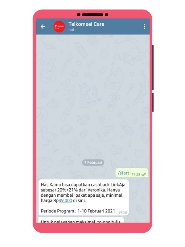 Telegram Telkomsel